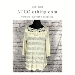 A1 Crotchet detailed Light Weight Sweater Blouse